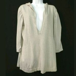 Eileen Fisher hoodie sweater Cashmere blend Gray